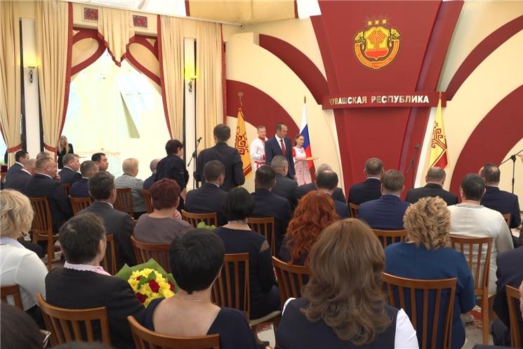 Глава Чувашии Михаил Игнатьев вручил государственные награды аграриям республики