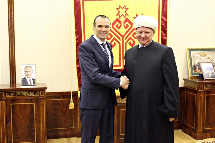 Михаил Игнатьев встретился с муфтием Духовного собрания мусульман России Альбиром Кргановым