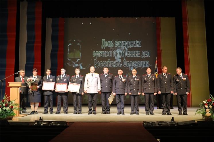 В Чувашии состоялось торжественное собрание, посвященное празднованию Дня сотрудника органов внутренних дел Российской Федерации