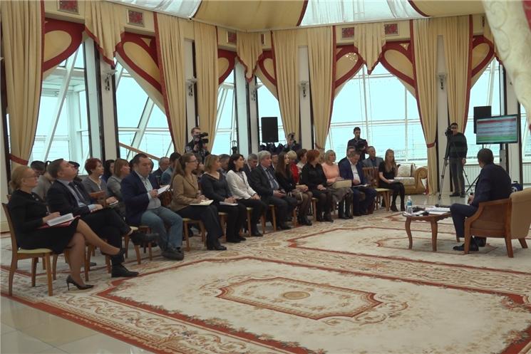 Глава Чувашии Михаил Игнатьев встретился с журналистами ведущих изданий Чувашской Республики.
