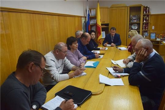 Глава администрации города Шумерля Алексей Григорьев провел планерку с руководителями предприятий жилищно-коммунального комплекса