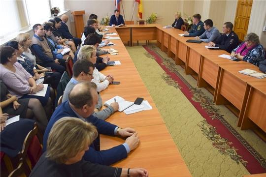 Глава администрации города Шумерля Алексей Григорьев провел расширенную планерку