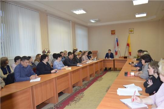 г. Шумерля: глава администрации провел расширенное совещание