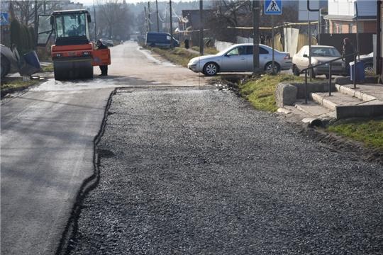 Глава администрации города Шумерля проинспектировал ход работ по ремонту ул. Заводская и ул. Некрасова