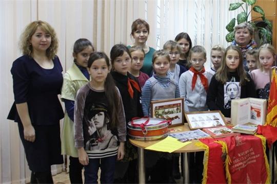 Обучающимся Центра детского творчества города Шумерля посредством мультимедийной лекции рассказали о юных пионерах – героях Великой Отечественной войны