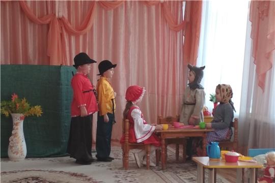 "Целую неделю детский сад № 14 «Солнышко» г Шумерля ""жил"" театром..."