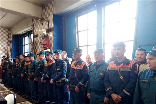 В Ибресинском районе продолжаются мероприятия формированиями гражданской обороны в рамках штабной тренировки
