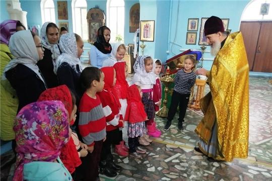 Урок добролюбия прошел с воспитанниками воскресной школы «Свечечка» при Детской библиотеке Ибресинского района