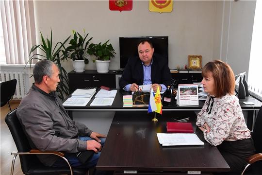 Глава администрации Ибресинского района Сергей Горбунов провел прием граждан