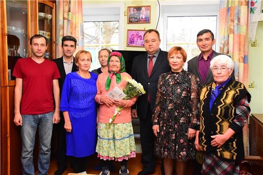 90-летний юбилей отмечает жительница деревни нижние Абакасы  Анна Федоровна Тимофеева