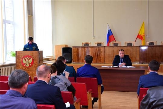Состоялось расширенное заседание комиссии по предупреждению и ликвидации чрезвычайных ситуаций и обеспечению пожарной безопасности Ибресинского района