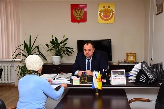 Прием граждан главой администрации Ибресинского района Сергеем Горбуновым