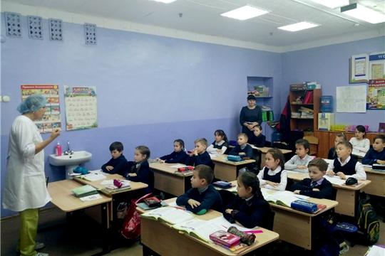 О правилах гигиены - с учащимися Ибресинской средней школы №1