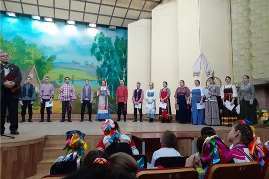 Народный фольклорный ансамбль «Ахах» - на юбилейном концерте в Чебоксарском музыкальном училище им. Ф.П. Павлова