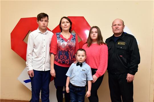 Семья Быковых представила Ибресинский район на республиканском конкурсе «Семья года – 2019»