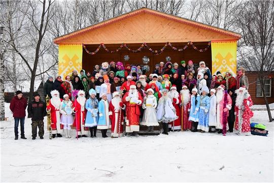 В рамках марафона «Новогодняя Республика» в Ибресинском районе состоялось открытие этнографического музея под открытым небом