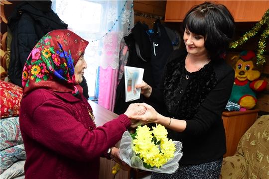 Жительнице деревни Андрюшево Кузьминой Клавдии Ефимовне исполнилось 90 лет