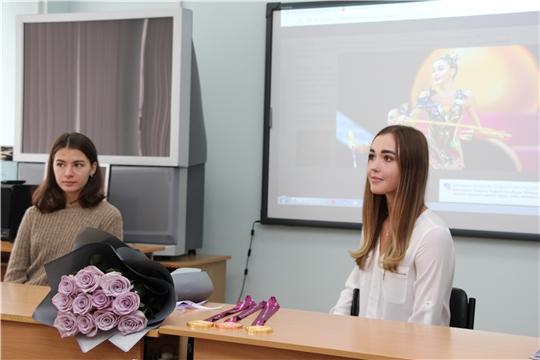 Пресс-конференция пятикратной чемпионки мира по художественной гимнастике Евгении Левановой