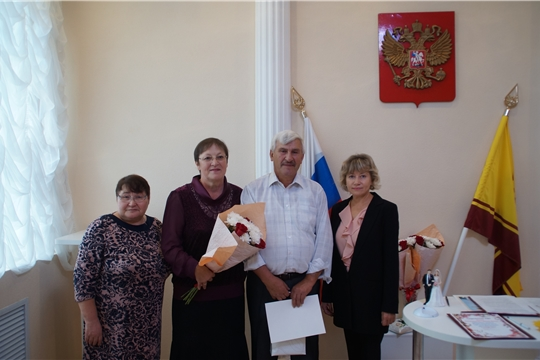 В Калининском районе чествовали юбиляров совместной жизни