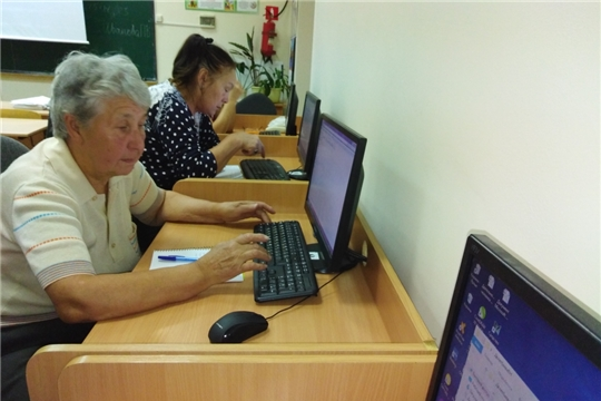 В Чебоксарском профессиональном колледже прошли курсы обучению пенсионеров компьютерной грамотности