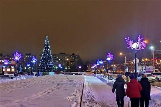 Новогоднее оформление города Чебоксары – и засияет столица в ярких красках
