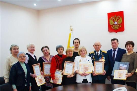 В Калининском районе награждены победители конкурса «Ветераны в строю»