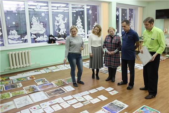 Новогодние просмотры учебных работ прошли в чебоксарской художественной школе