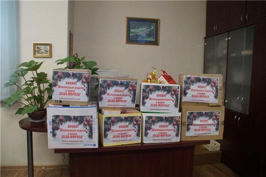 В Калининском районе завершена благотворительная акция «Шоколадное чудо в мешок Деда Мороза»