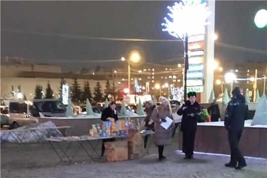 В Калининском районе г.Чебоксары обследованы точки торговли пиротехническими изделиями