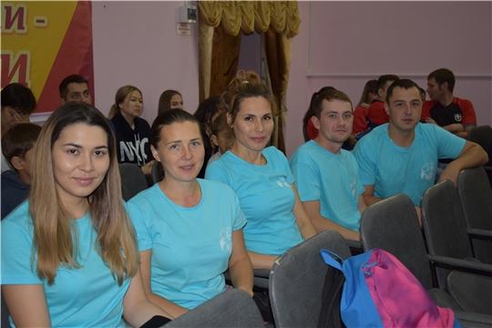 На республиканском спортивном фестивале Советов работающей молодежи команду Канашского района представляла команда из активистов Молодежного правительства