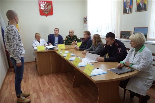 Заседание призывной комиссии Канашского района