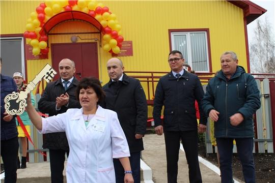 Открытие модульного фельдшерско-акушерского пункта в д.Новое Урюмово