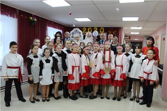 В рамках Единого информдня состоялось открытие после капитального ремонта Детской школы искусств в с.Тобурданово Канашского района