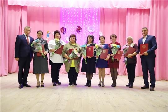 Торжественное мероприятие к Дню учителя в Комсомольском районе
