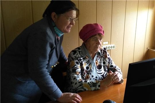 В Межпоселенческой библиотеке осваивают компьютер
