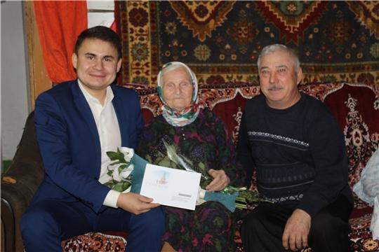 90-летний юбилей труженицы тыла Валеевой Бибизайтуны Абдулбариевны