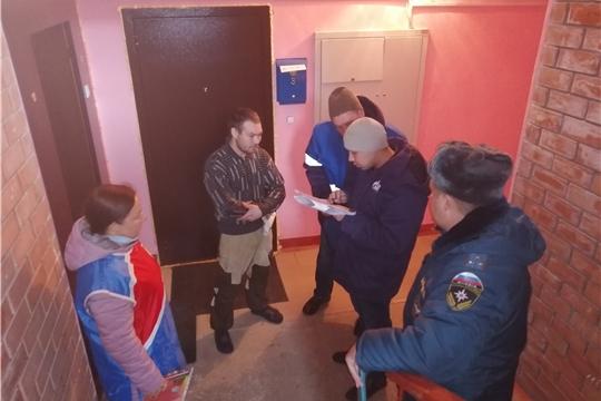 Профилактический рейд по жилому сектору в городе Козловка.