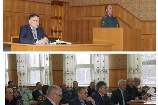 Расширенное заседание Комиссии по предупреждению и ликвидации чрезвычайных ситуаций, обеспечению пожарной безопасности и безопасности людей на водных объектах Козловского района