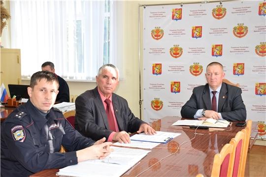 Красночетайцы в режиме видеоконференции приняли участие в заседании координирующего органа (штаба) народных дружин в Чувашской Республике