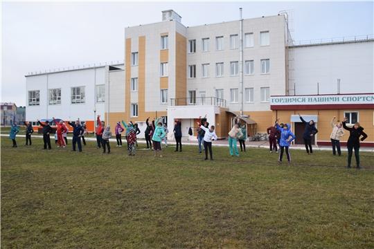 Единый день здоровья и спорта: в Красночетайском районе прошла массовая зарядка