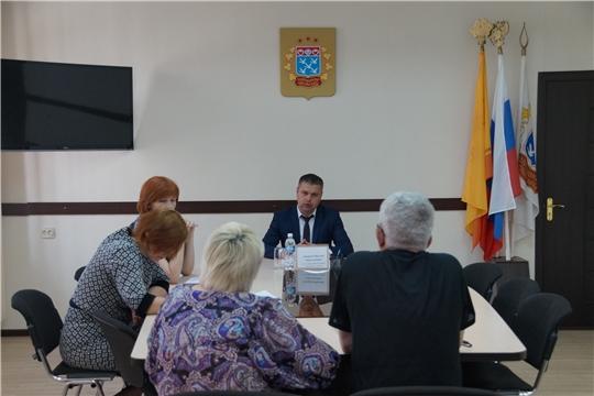 Глава администрации Ленинского района г.Чебоксары Максим Андреев провел прием граждан по личным вопросам