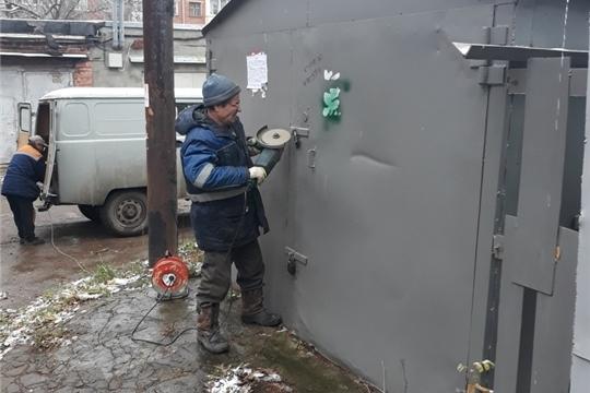 В Ленинском районе продолжается работа по освобождению муниципальных земельных участков от самовольно размещенных металлических гаражей
