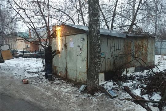 В Ленинском районе продолжается работа по освобождению земельных участков от самовольно размещенных гаражей
