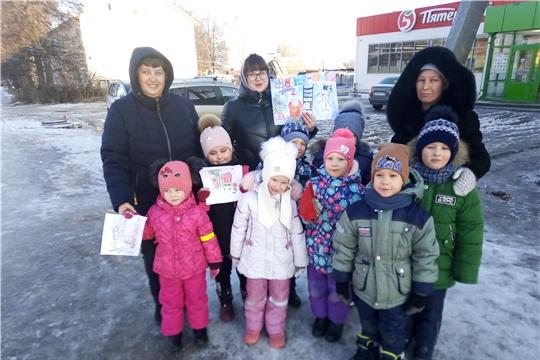 Детский сад Радуга стали участниками VIII районной акции «Письмо пешехода!»