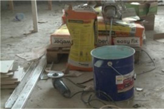 В Чебоксарах продолжается капитальный ремонт поликлиники на Южном поселке