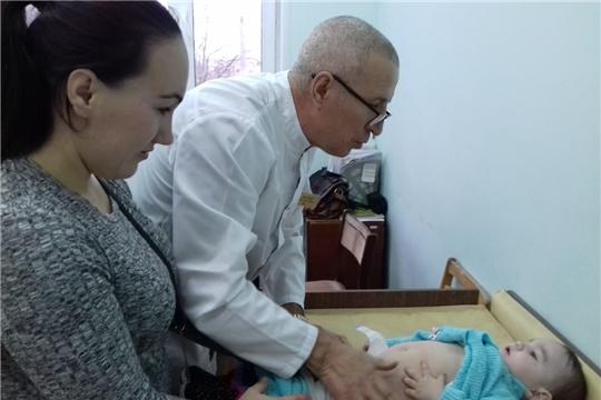 Узкие специалисты провели прием детей до 12 месяцев в рамках диспансеризации