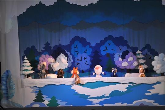Чувашский театр кукол представит спектакль «Белая шубка для Зайчонка» М. Юхмы в г. Москва