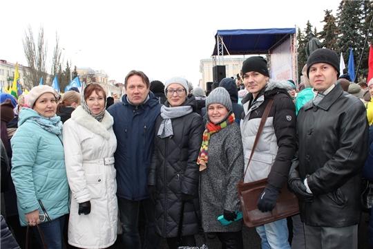 Коллектив Минприроды Чувашии принял участие в митинге-концерте, посвященном Дню народного единства
