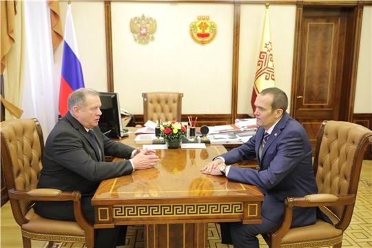 Глава Чувашии Михаил Игнатьев встретился с депутатом Госдумы России Иваном Лоором