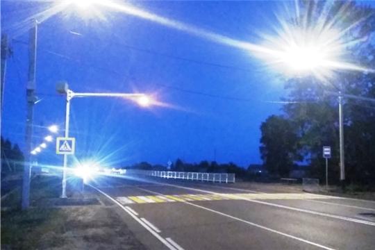 В рамках национального проекта «Безопасные и качественные автомобильные дороги» построено наружное освещение на автомобильной дороге Чебоксары-Сурское с пешеходным переходом вблизи образовательного учреждения в Аликовском районе Чувашской Республики
